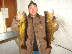 Chris with big walleyes